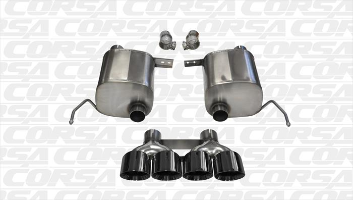 Corsa XTREME Valve Back Exhaust W/ BLACK TIPS- C7 Corvette