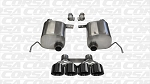 Corsa Sport Cat Back Exhaust W/ BLACK Tips- C7 Z06