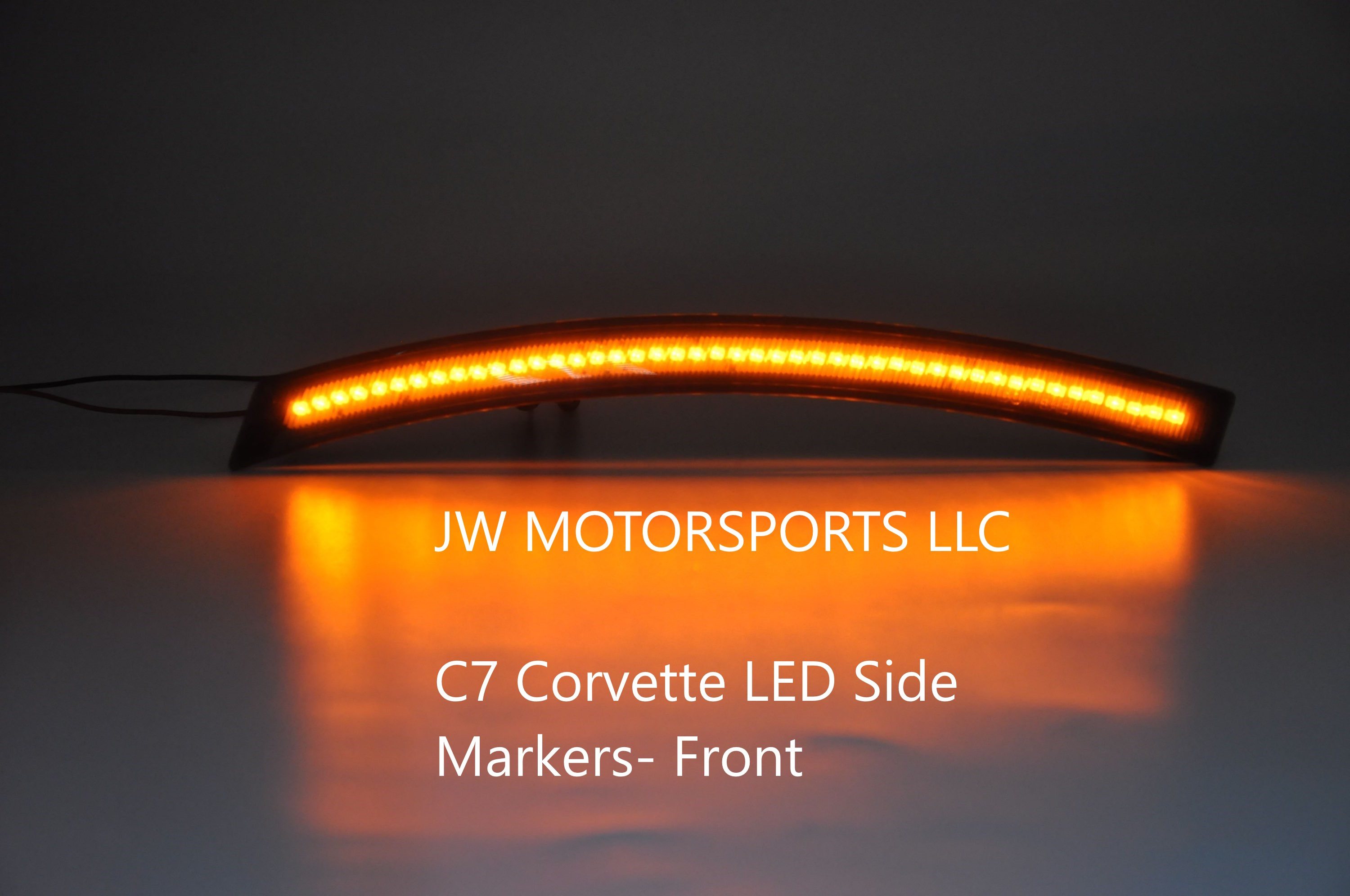 C7 Corvette LED Side Marker Set of 4- SMOKED- SCRATCH AND DENT
