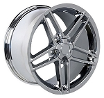 Set of 4 17x9.5/18x9.5 Chrome C6 Z06 Style Wheels