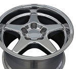 Set of (4) 17x9.5 and 17x11 Polished C4 ZR1 Style Wheels