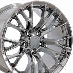 Set of 4 17x9.5/18x10.5 Chrome C7 Z06 Style Wheels