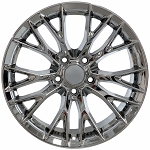Set of 4 18x8.5/19x10 Chrome C7 Z06 Style Wheels