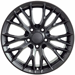 Set of 4 18x8.5/19x10 GUNMETAL GRAY C7 Z06 Style Wheels