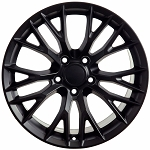 Set of 4 17x9.5/18x10.5 Matte Black C7 Z06 Style Wheels