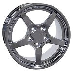 Set of 4 17x9.5/18x10.5 Chrome C5 Dished Wheels