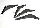 C7 Corvette Rear Diffuser Fins- Painted Carbon Flash Metallic