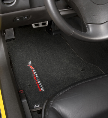 C6 Corvette LLoyd LUXE Floor Mats - SINGLE LOGO