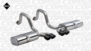 Corsa Sport Axle Back System W/ PRO BLACK TIPS
