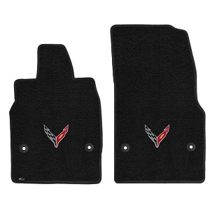 C8 Corvette LLoyd LUXE Floor Mats- SINGLE LOGOS