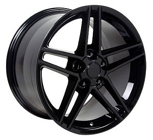 Set of (4) 18x9.5 Black C6 Z06 Style Wheels